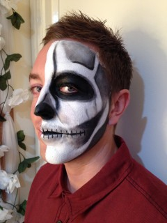 Half Face Skeleton - Side View