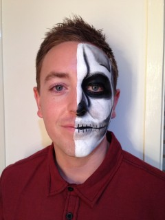 Half Face Skeleton - Front view