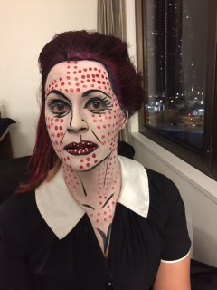 Pop Art Face Painting  Woman Front View