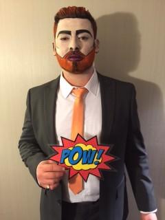 Pop Art Face Painted Man