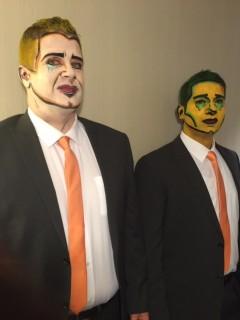 Pop Art Face Painted Men