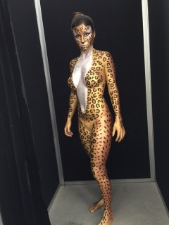 Gold Snake Body Painted Front View