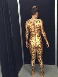Gold Snake Body Painted Back View