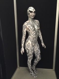 Silver Snake Body Painted Side View